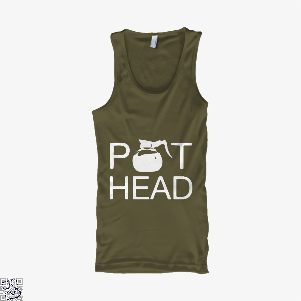 Coffee Pot Head Tank Top - Men / Brown / Small - Productgenapi