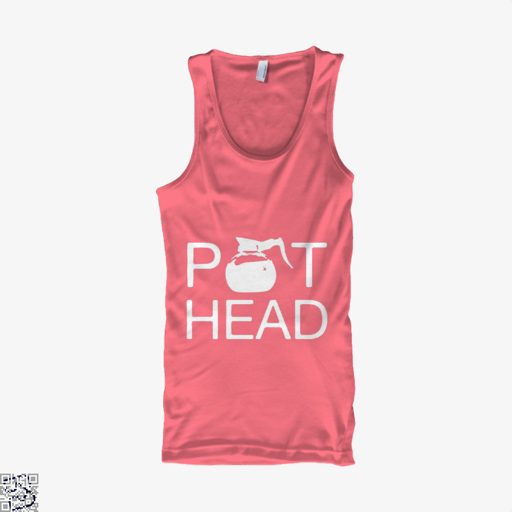 Coffee Pot Head Tank Top - Women / Pink / Small - Productgenapi