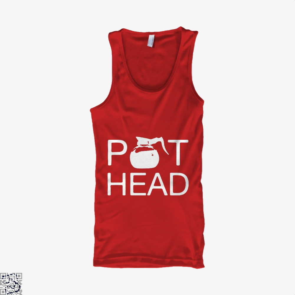 Coffee Pot Head Tank Top - Women / Red / Small - Productgenapi