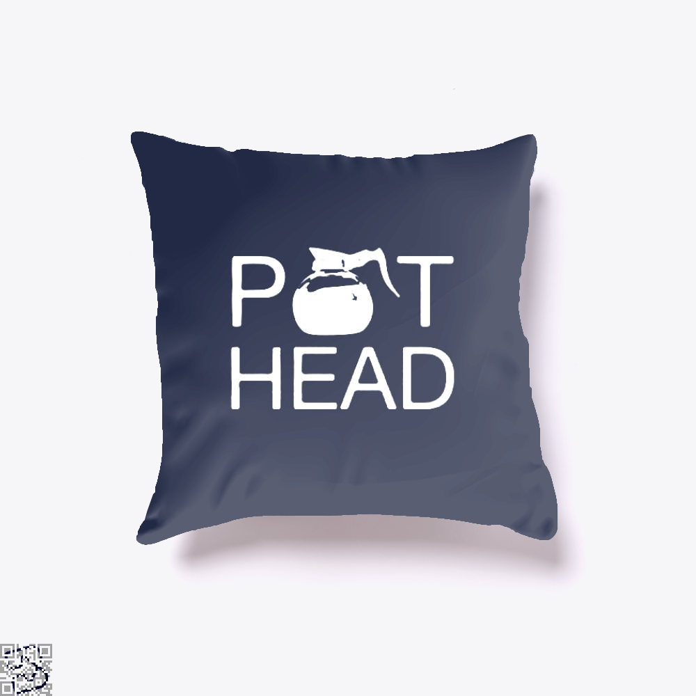 Coffee Pot Head Throw Pillow Cover - Blue / 16 X - Productgenapi