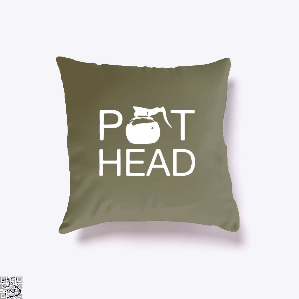 Coffee Pot Head Throw Pillow Cover - Brown / 16 X - Productgenapi