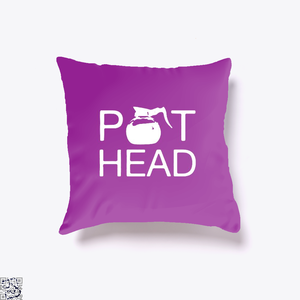 Coffee Pot Head Throw Pillow Cover - Purple / 16 X - Productgenapi