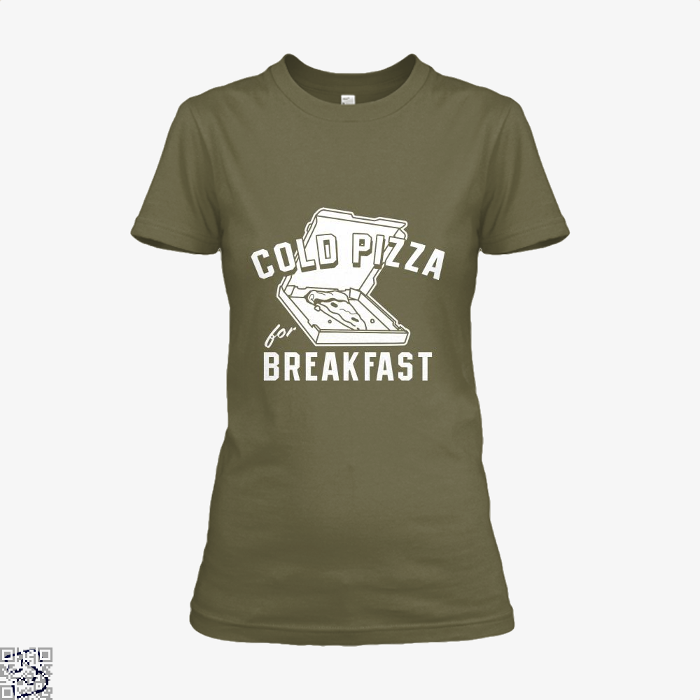 Cold Pizza For Breakfast Shirt - Women / Brown / X-Small - Productgenapi