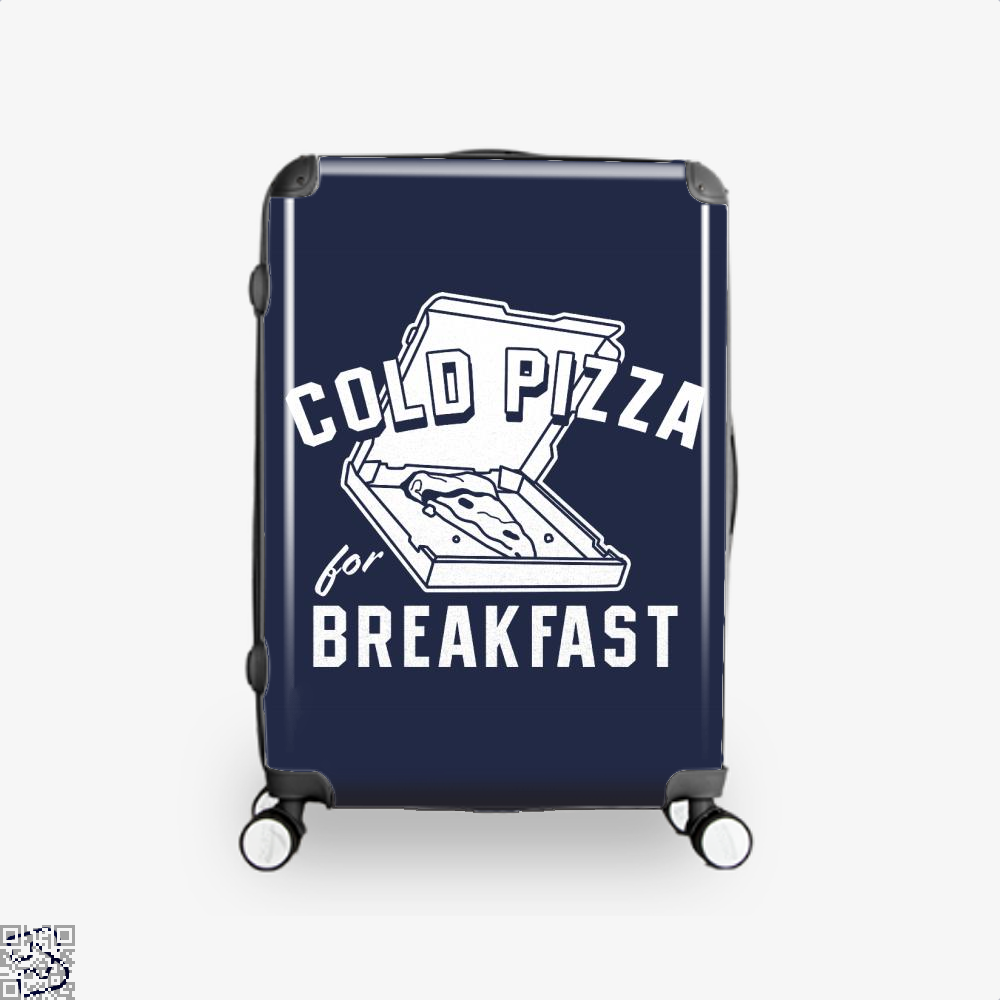 Cold Pizza For Breakfast Suitcase - Blue / 16 - Productgenapi