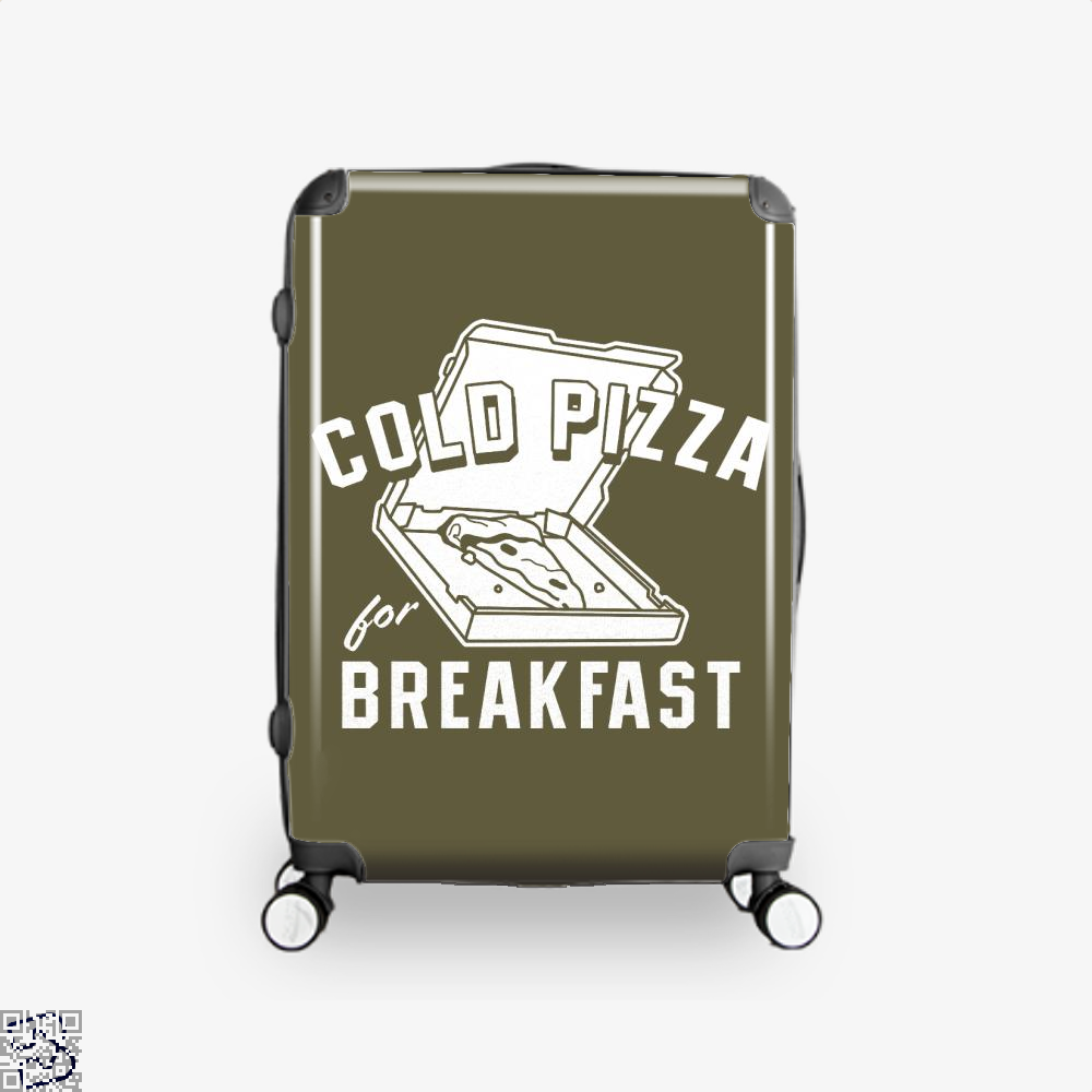 Cold Pizza For Breakfast Suitcase - Brown / 16 - Productgenapi