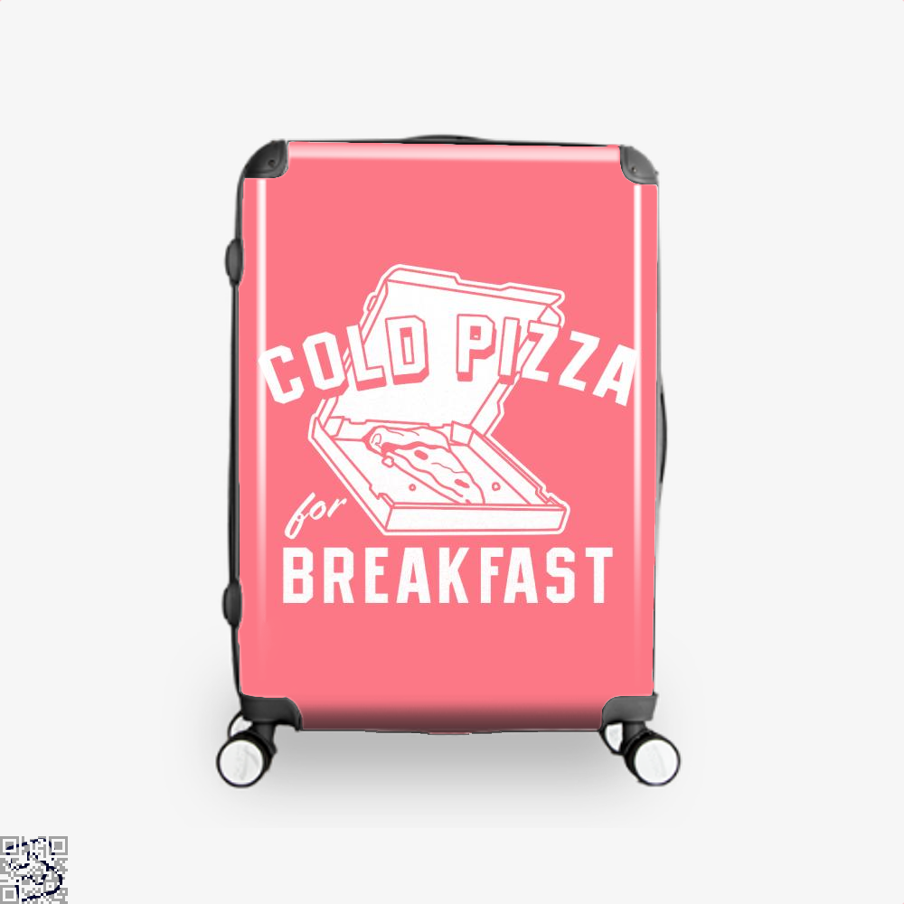 Cold Pizza For Breakfast Suitcase - Pink / 16 - Productgenapi