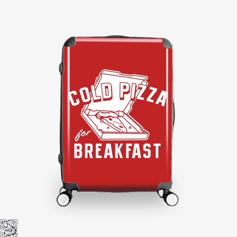 Cold Pizza For Breakfast Suitcase - Red / 16 - Productgenapi