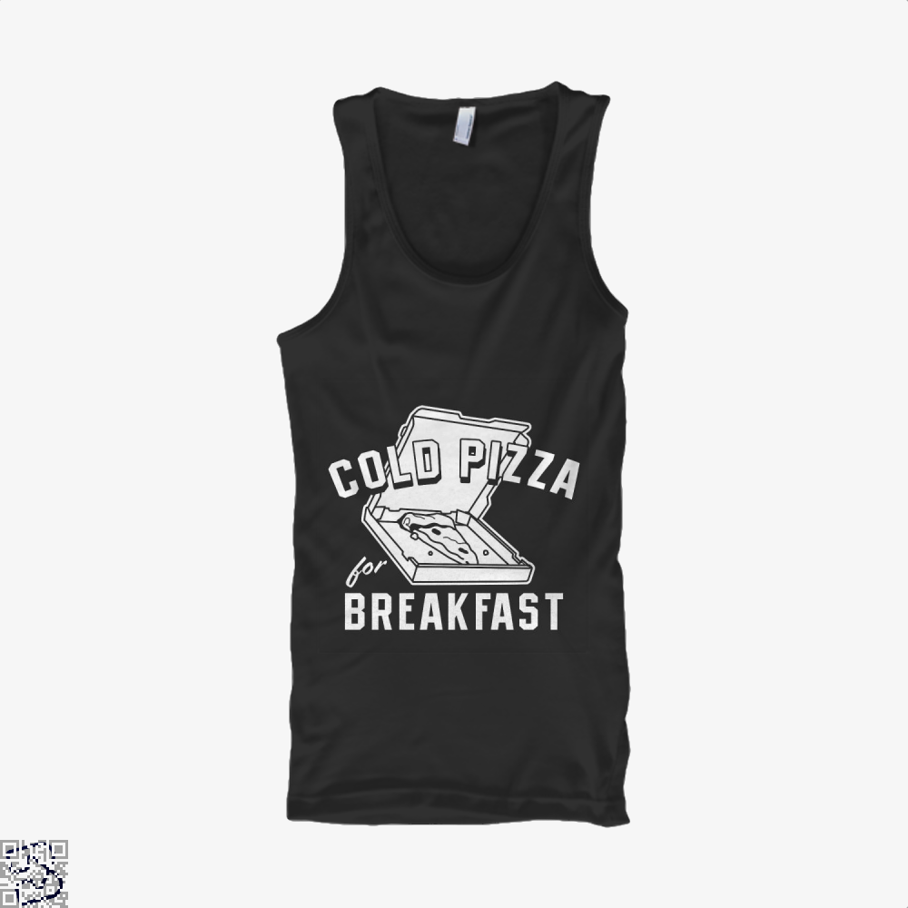 Cold Pizza For Breakfast Tank Top - Men / Black / Small - Productgenapi
