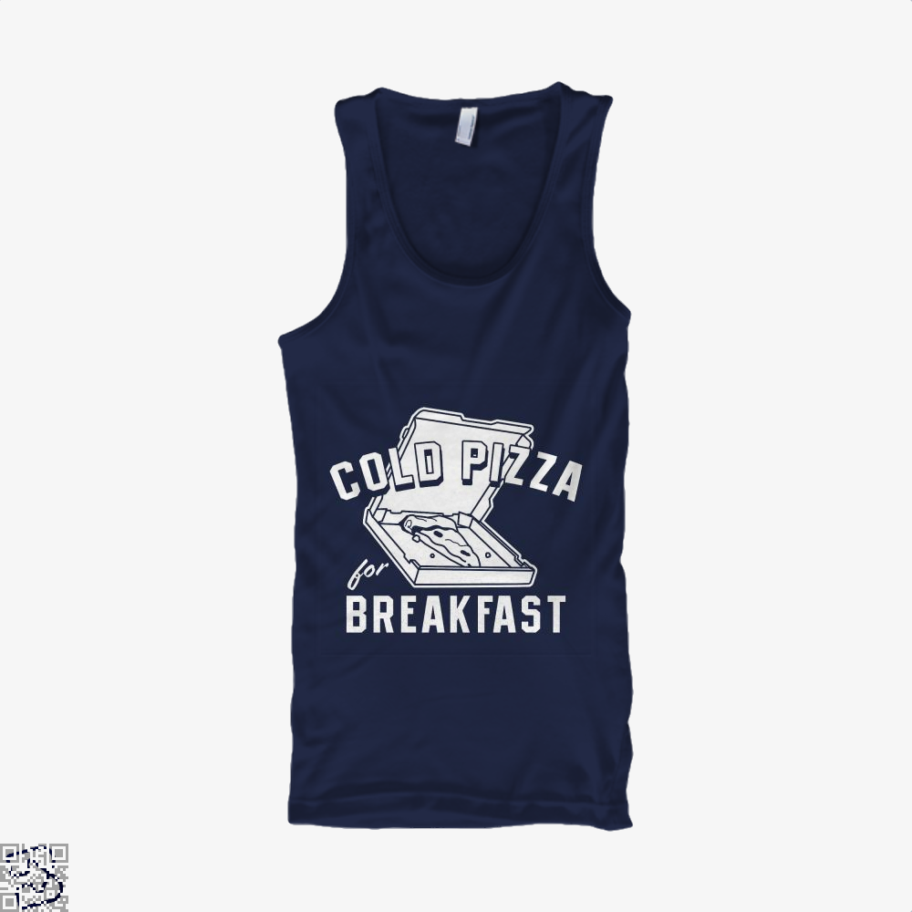 Cold Pizza For Breakfast Tank Top - Men / Blue / Small - Productgenapi