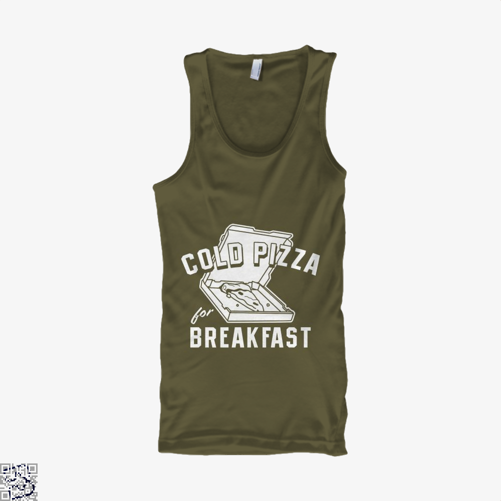 Cold Pizza For Breakfast Tank Top - Men / Brown / Small - Productgenapi