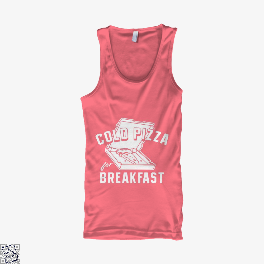 Cold Pizza For Breakfast Tank Top - Women / Pink / Small - Productgenapi
