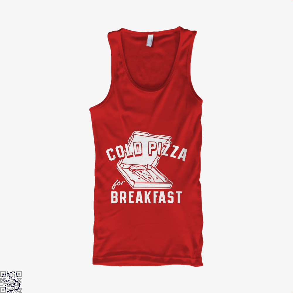 Cold Pizza For Breakfast Tank Top - Women / Red / Small - Productgenapi
