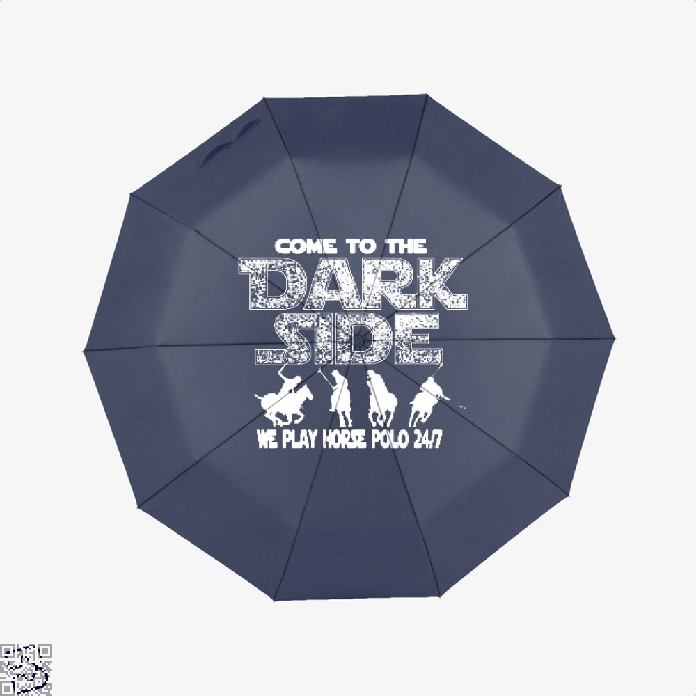 Come To The Dark Side Horse Umbrella - Blue - Productgenjpg