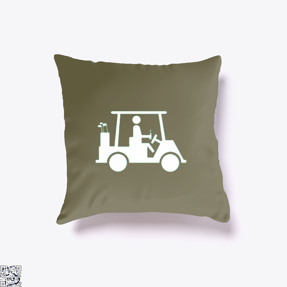Cool Golfing Juvenile Throw Pillow Cover - Brown / 16 X - Productgenjpg