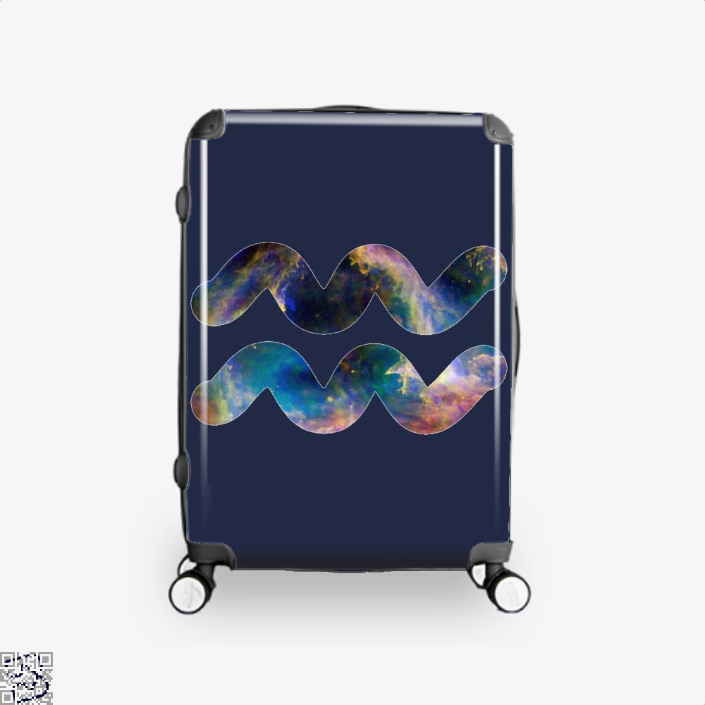 Cosmic Aquarius Galaxy Astrology Suitcase - Blue / 16 - Productgenapi