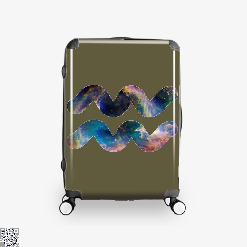 Cosmic Aquarius Galaxy Astrology Suitcase - Brown / 16 - Productgenapi