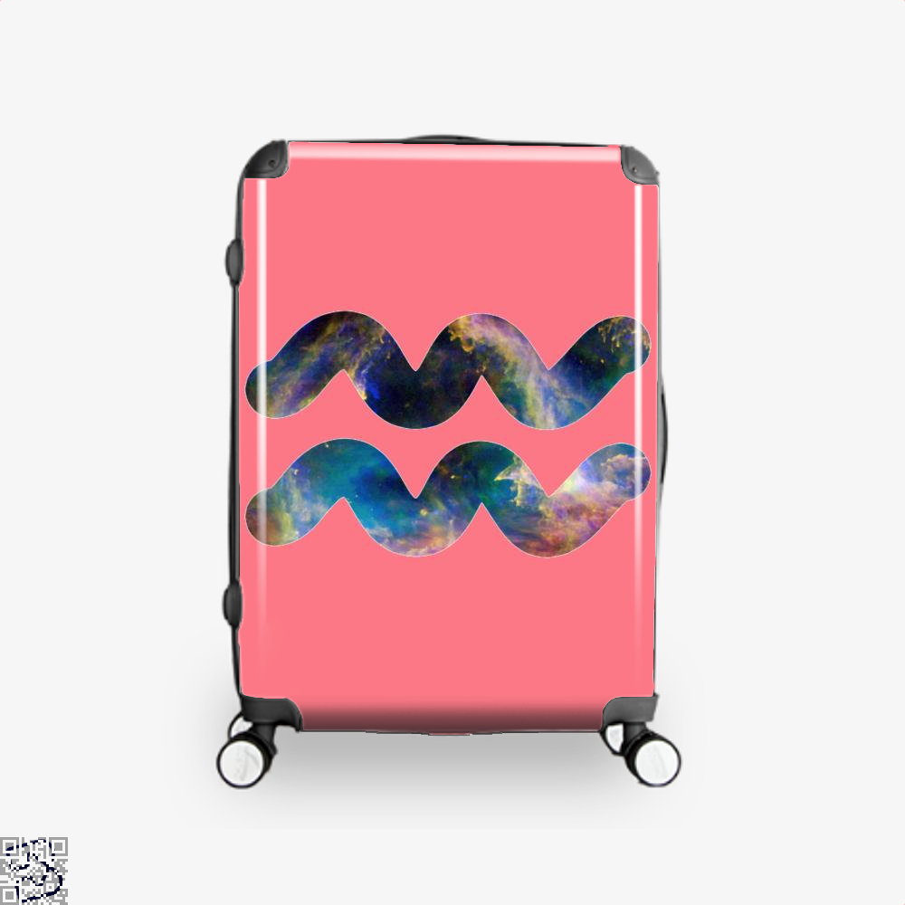 Cosmic Aquarius Galaxy Astrology Suitcase - Pink / 16 - Productgenapi