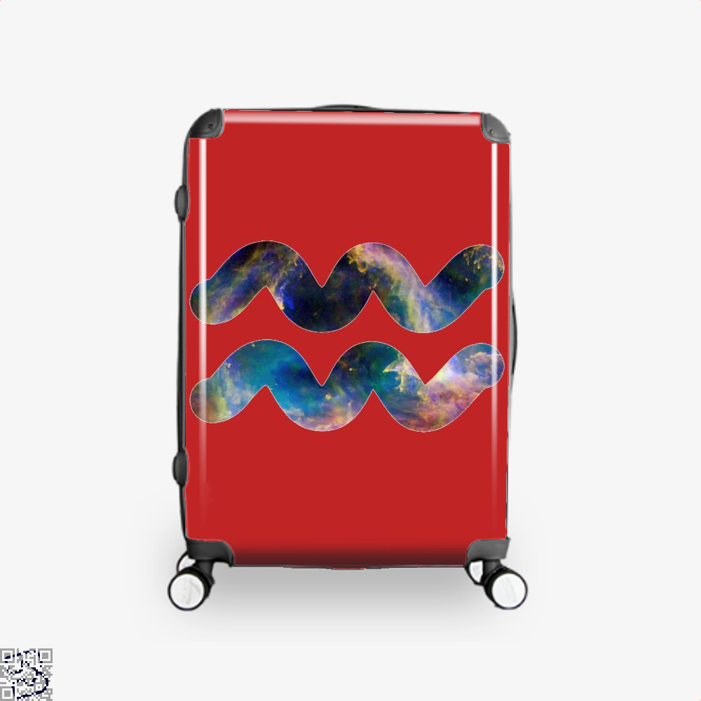 Cosmic Aquarius Galaxy Astrology Suitcase - Red / 16 - Productgenapi