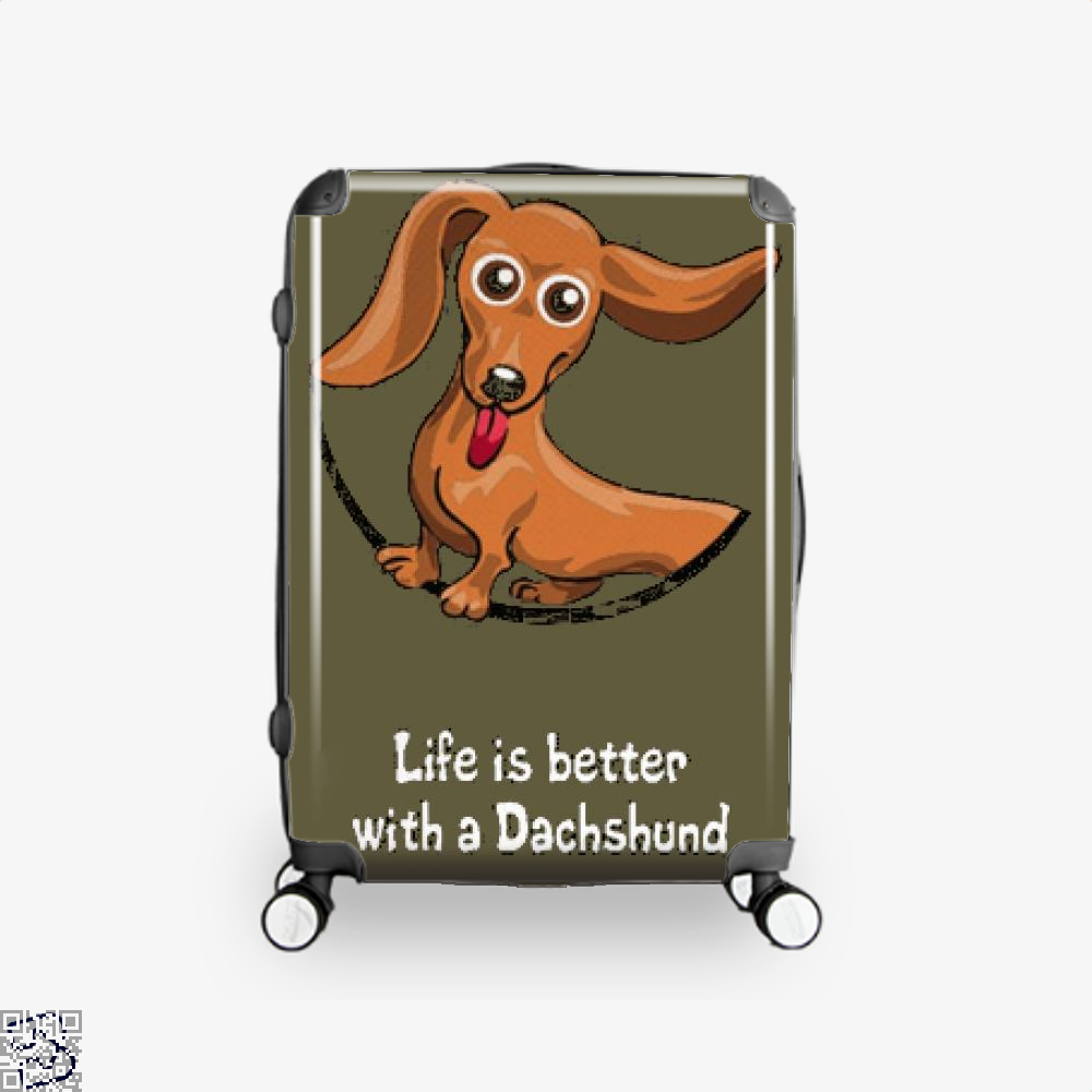 Dachshund Suitcase - Brown / 16 - Productgenjpg