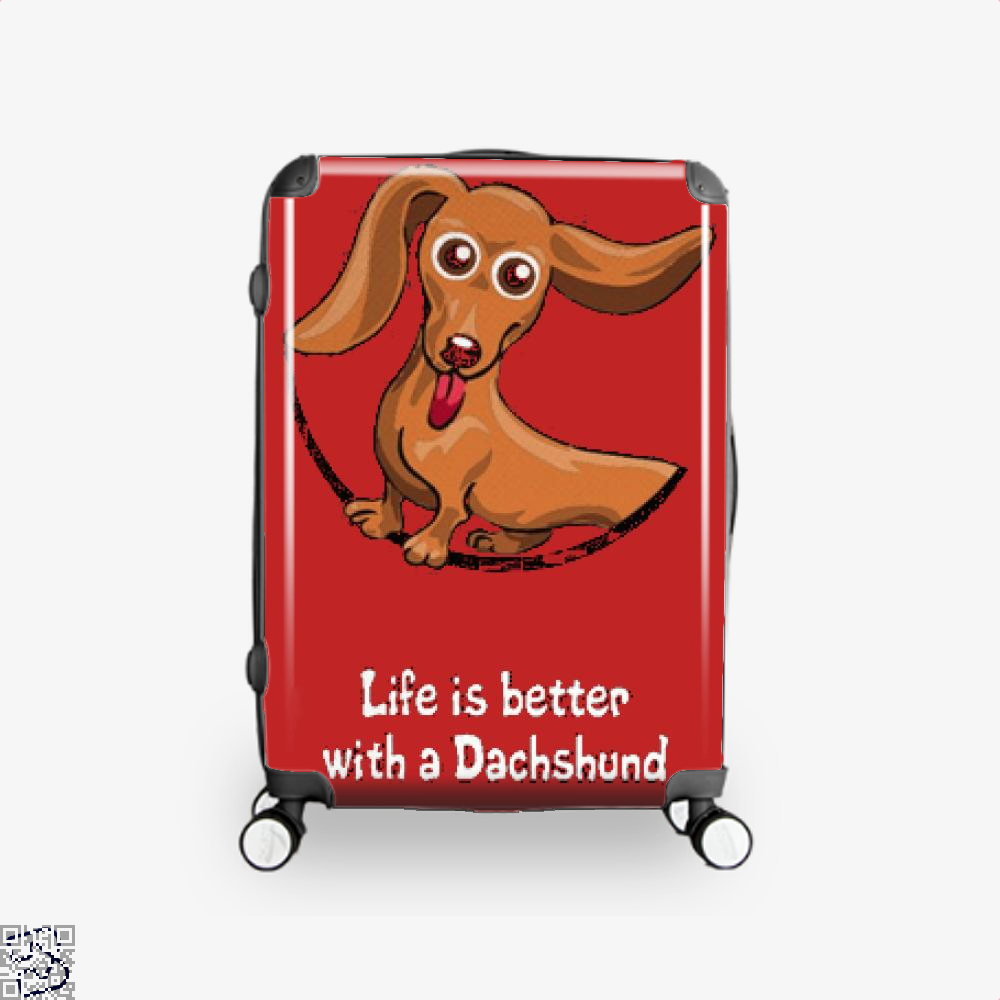 Dachshund Suitcase - Red / 16 - Productgenjpg