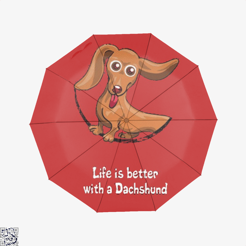 Dachshund Umbrella - Red - Productgenjpg