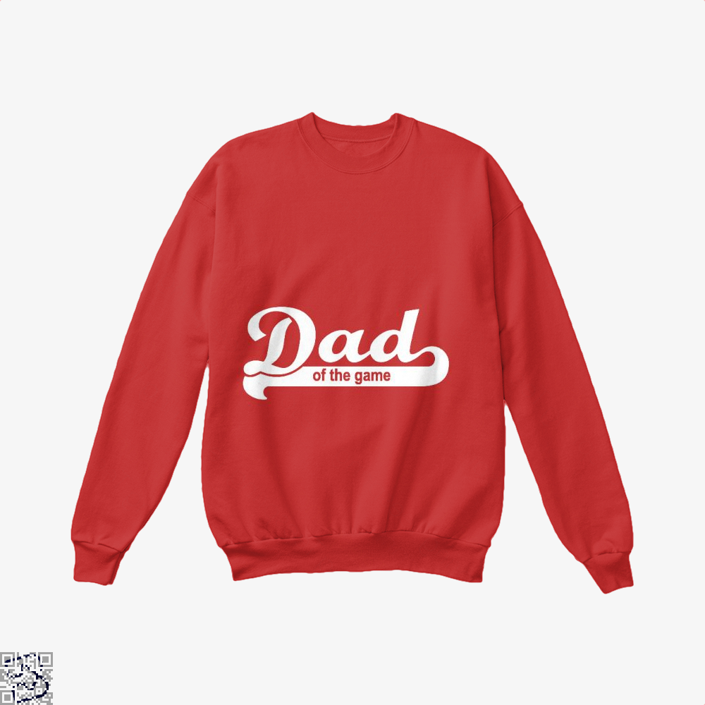 Dad Of The Game Fathers Day Crew Neck Sweatshirt - Red / X-Small - Productgenapi