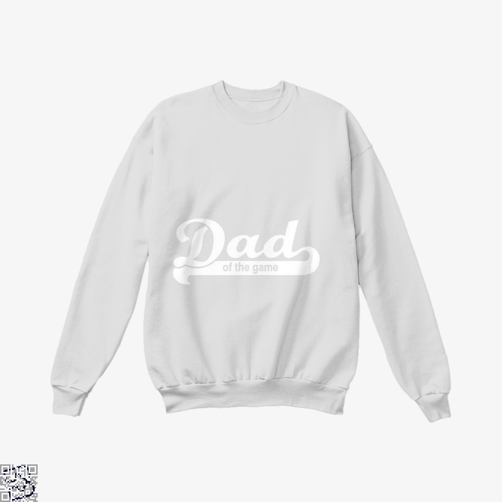 Dad Of The Game Fathers Day Crew Neck Sweatshirt - White / X-Small - Productgenapi
