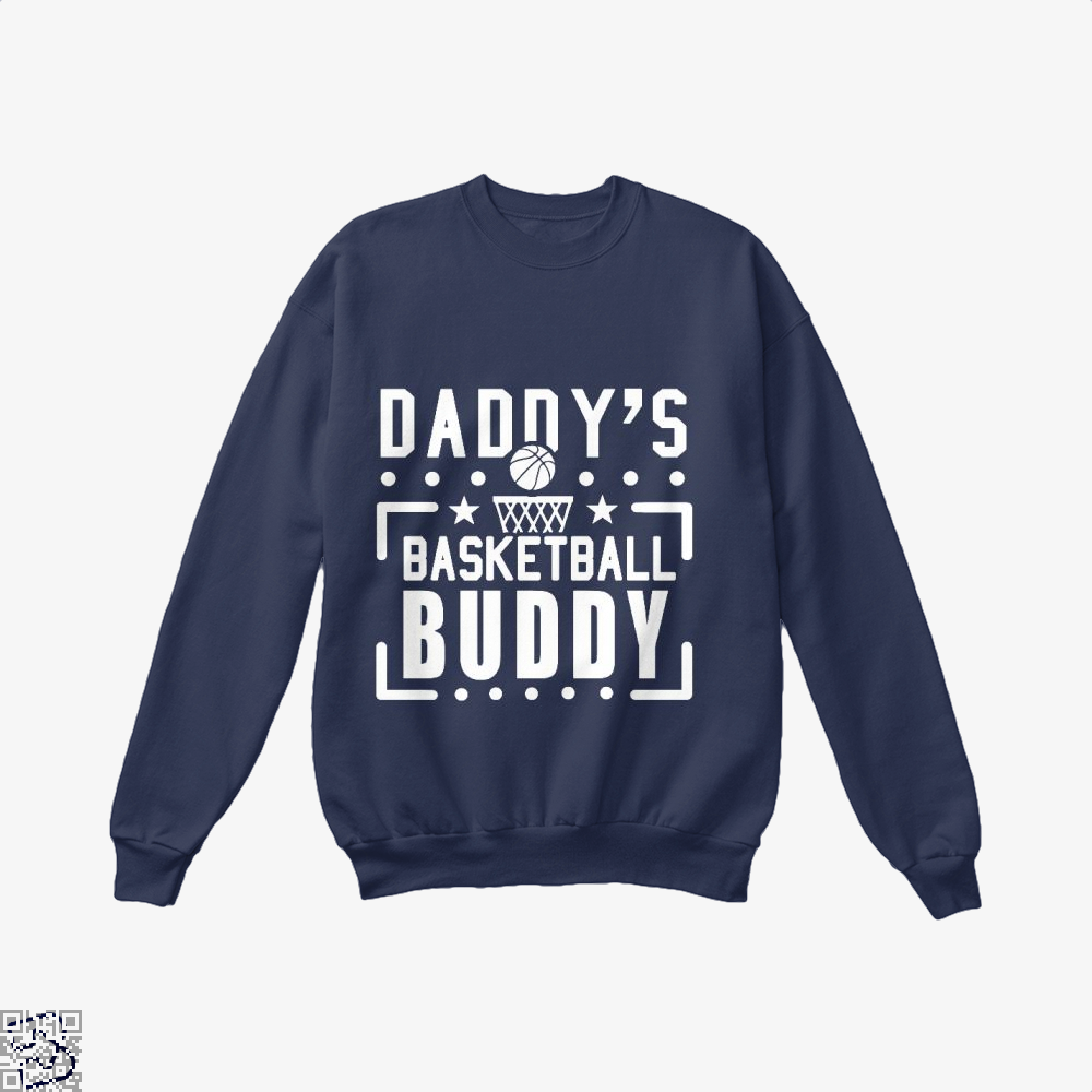 Daddys Basketball Buddy Fathers Day Crew Neck Sweatshirt - Blue / X-Small - Productgenapi