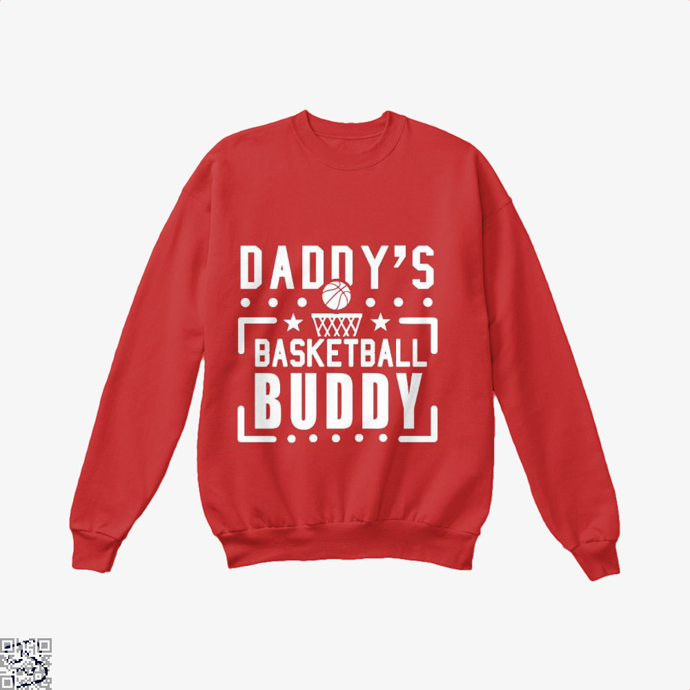 Daddys Basketball Buddy Fathers Day Crew Neck Sweatshirt - Red / X-Small - Productgenapi