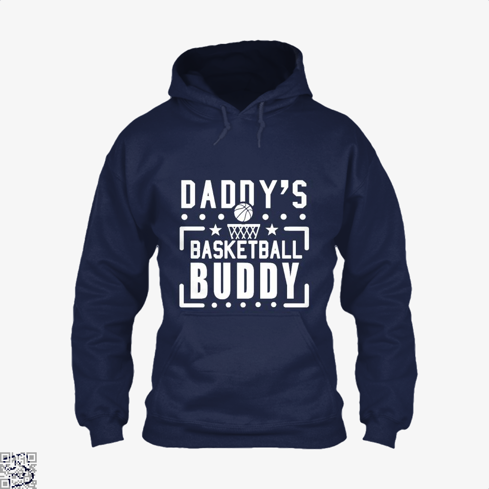 Daddys Basketball Buddy Fathers Day Hoodie - Blue / X-Small - Productgenapi