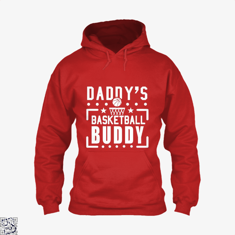 Daddys Basketball Buddy Fathers Day Hoodie - Red / X-Small - Productgenapi