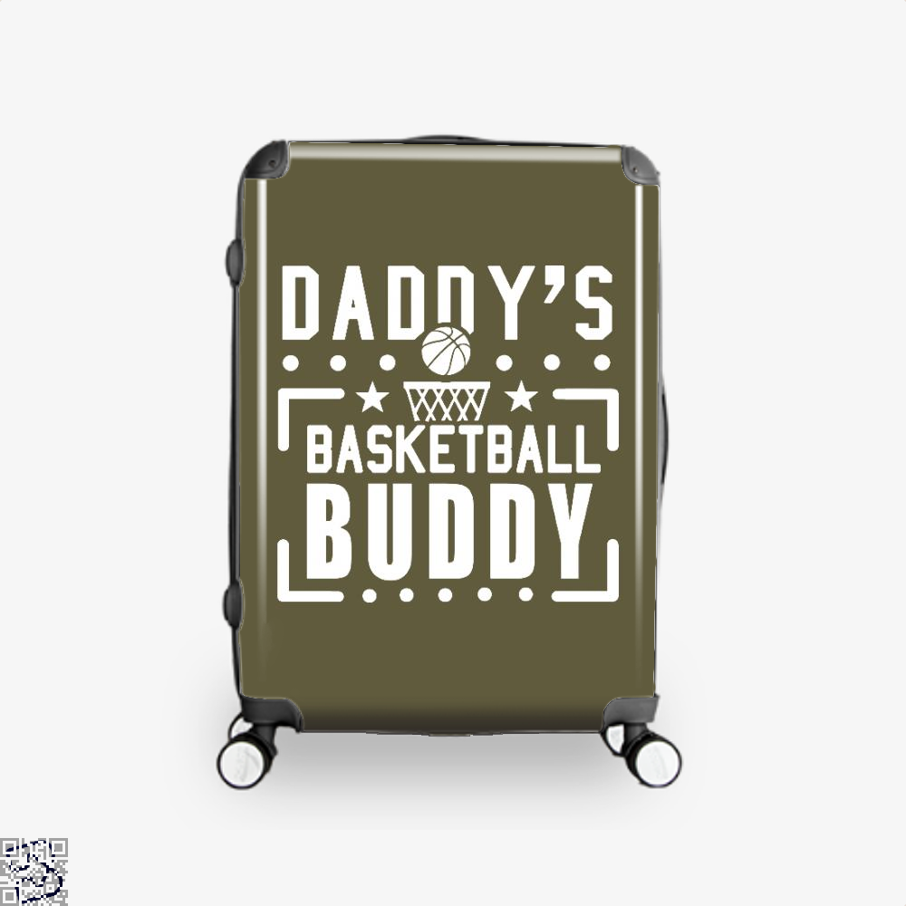 Daddys Basketball Buddy Fathers Day Suitcase - Brown / 16 - Productgenapi