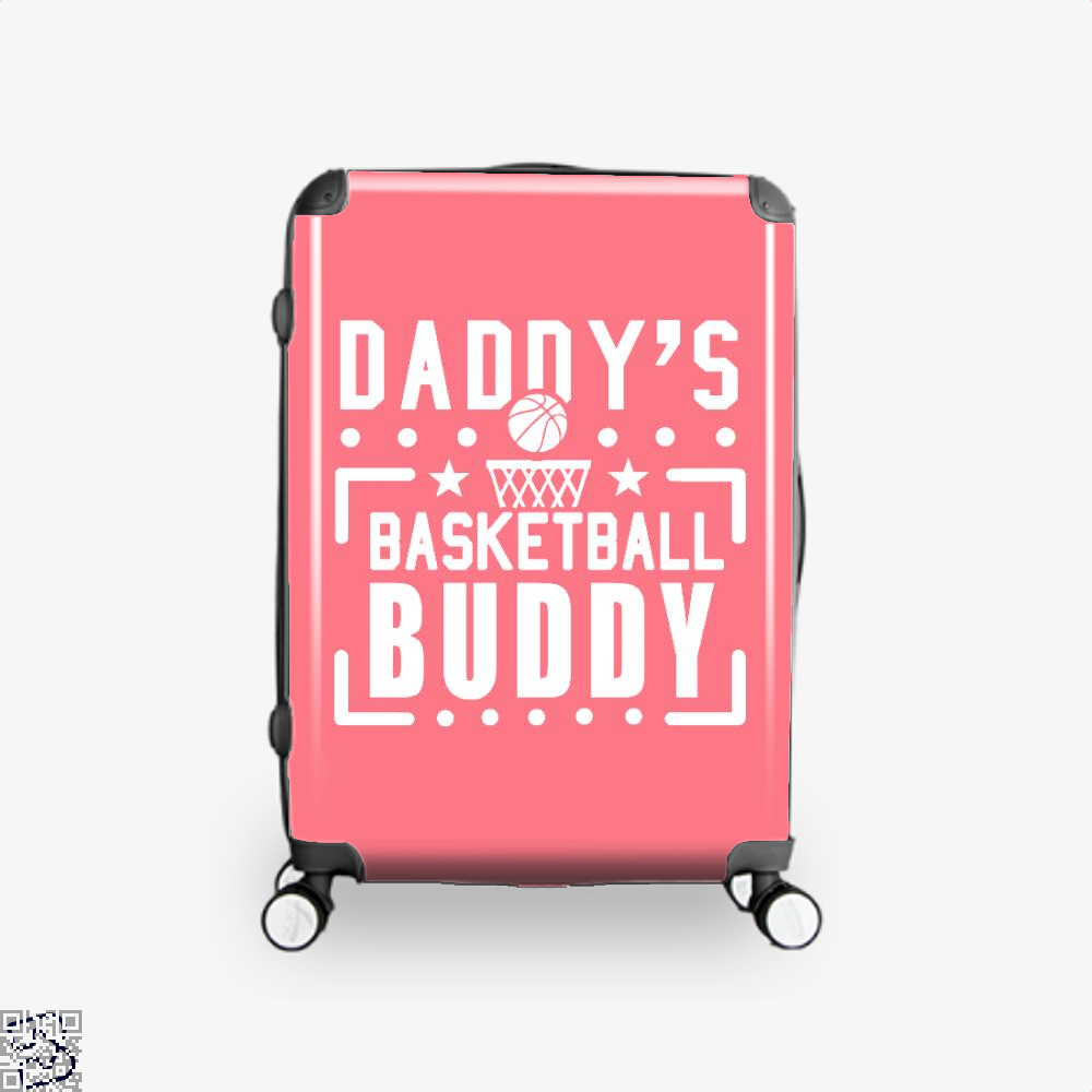 Daddys Basketball Buddy Fathers Day Suitcase - Pink / 16 - Productgenapi