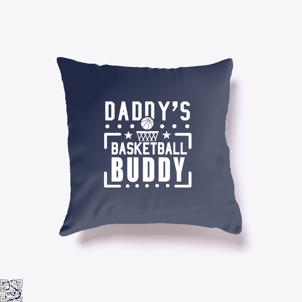 Daddys Basketball Buddy Fathers Day Throw Pillow Cover - Blue / 16 X - Productgenapi
