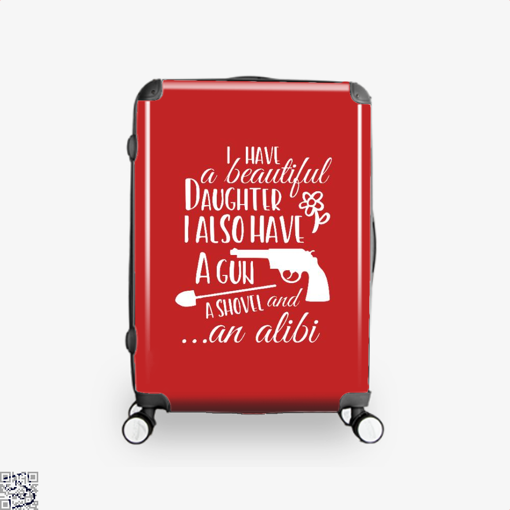 Daughter Father Fathers Day Suitcase - Red / 16 - Productgenapi