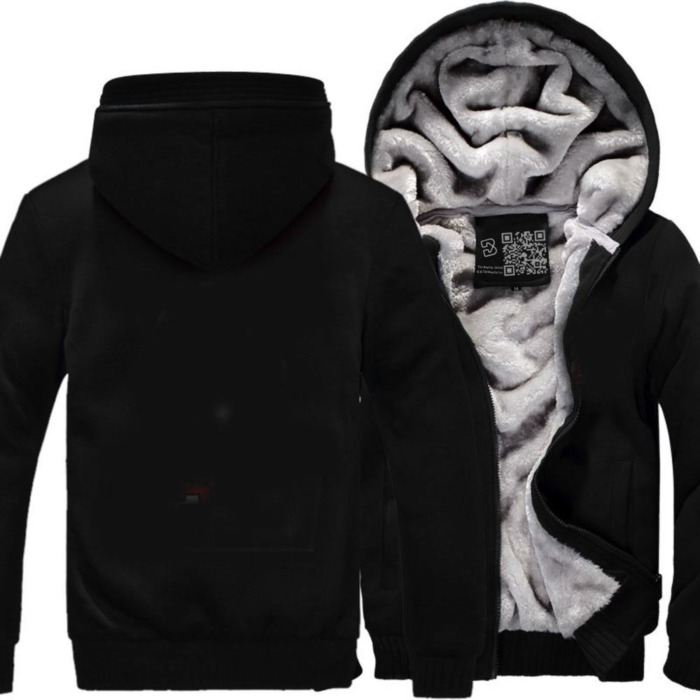 D&d White Ampersend Dragon And Dungeon Fleece Jacket - Black / X-Small - Productgenjpg