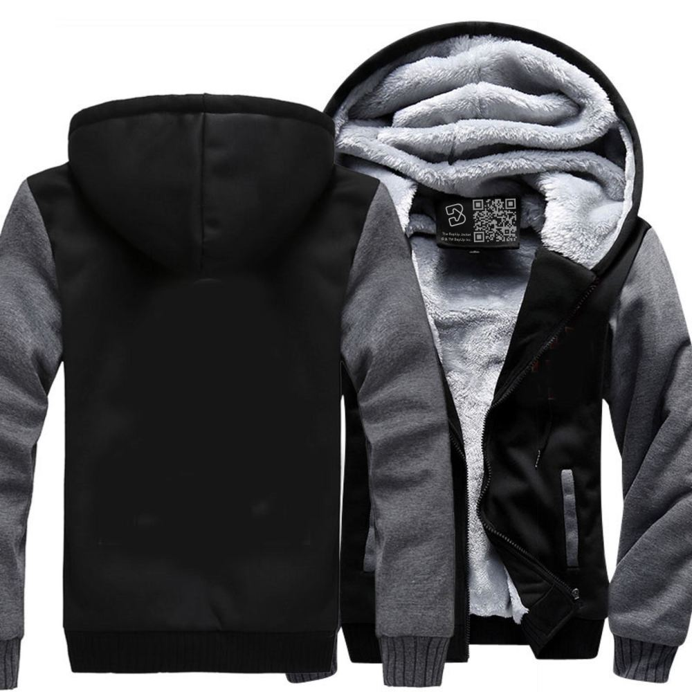 D&d White Ampersend Dragon And Dungeon Fleece Jacket - Gray / X-Small - Productgenjpg