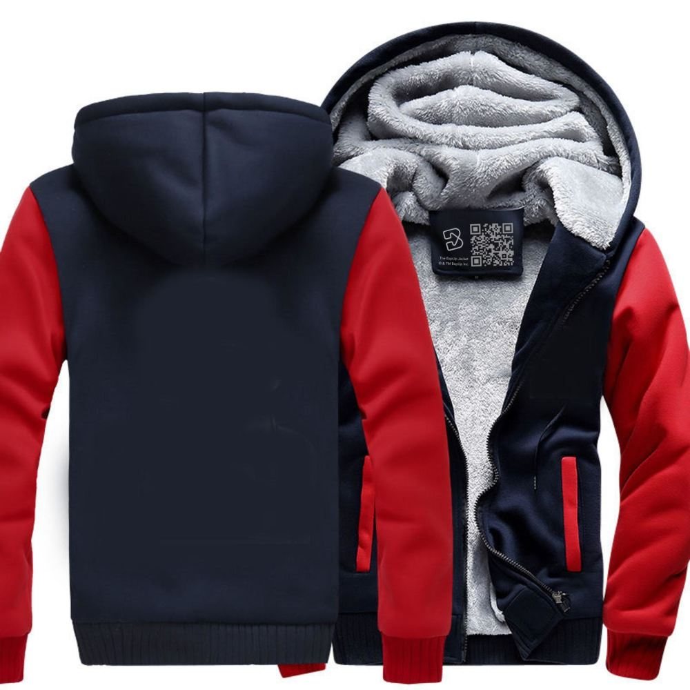 D&d White Ampersend Dragon And Dungeon Fleece Jacket - Red / X-Small - Productgenjpg