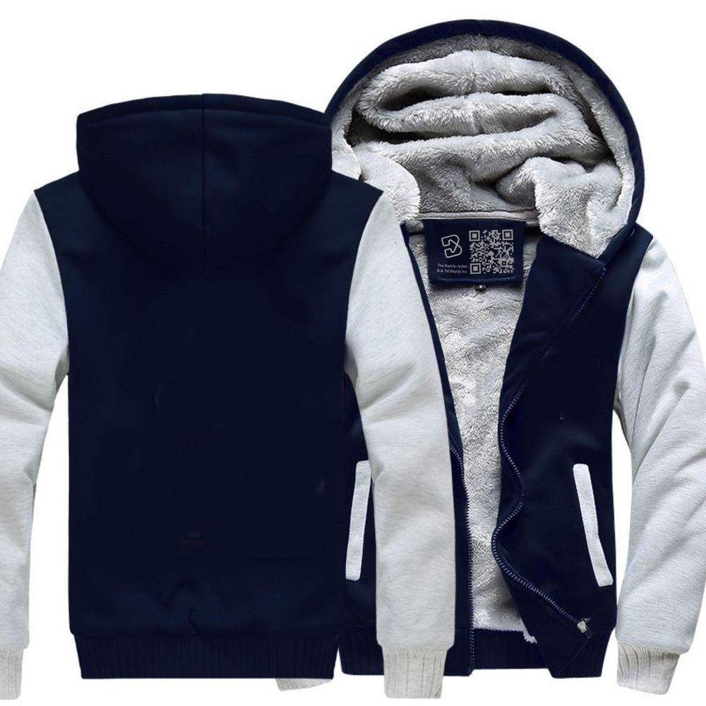 D&d White Ampersend Dragon And Dungeon Fleece Jacket - / X-Small - Productgenjpg
