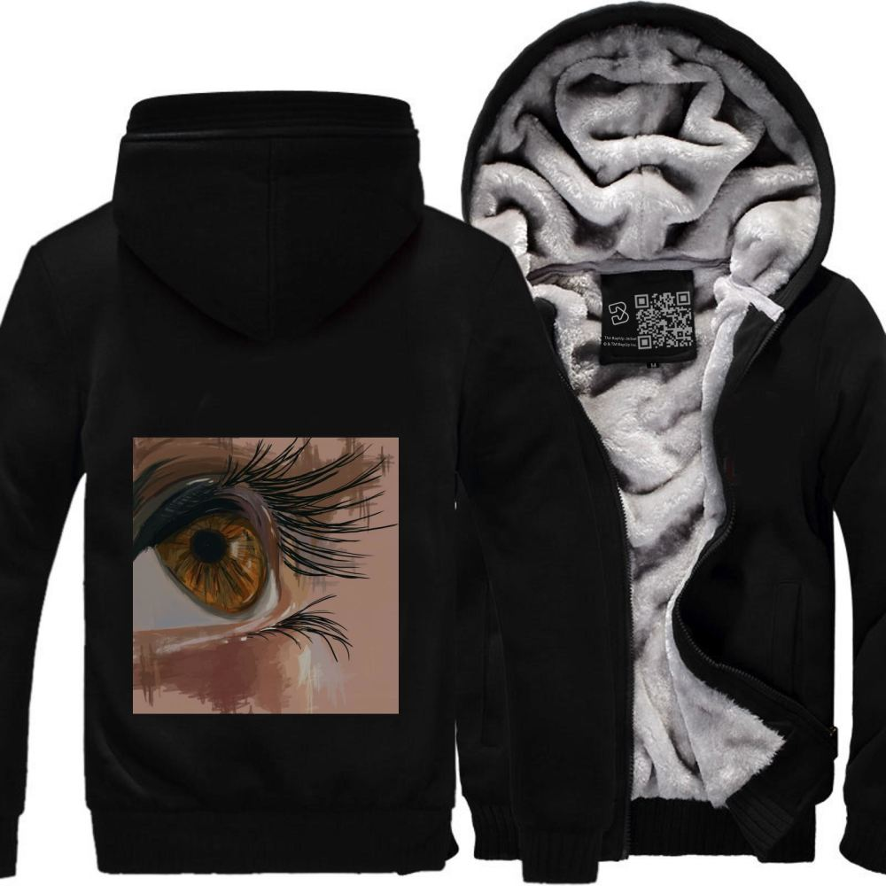 Depth Of An Eye Shows The Depth Your Character Aathira Mohan Fleece Jacket