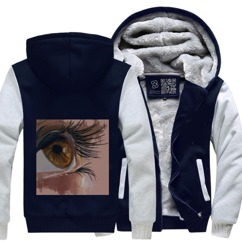 Depth Of An Eye Shows The Depth Your Character Aathira Mohan Fleece Jacket - White / X-Small