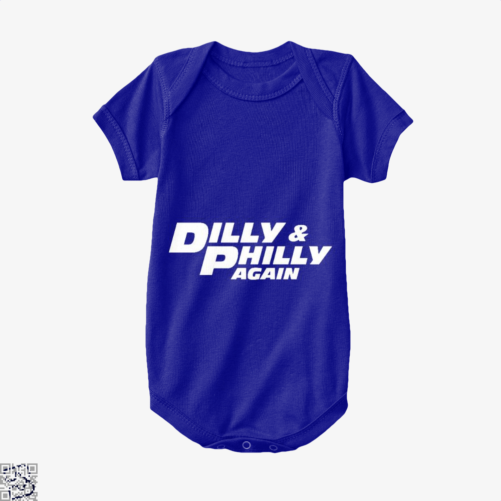 Dilly Philly Again Dilly Dilly Baby Onesie - Navy / 0-3 Months - Productgenapi