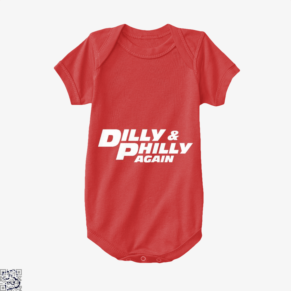 Dilly Philly Again Dilly Dilly Baby Onesie - Red / 0-3 Months - Productgenapi
