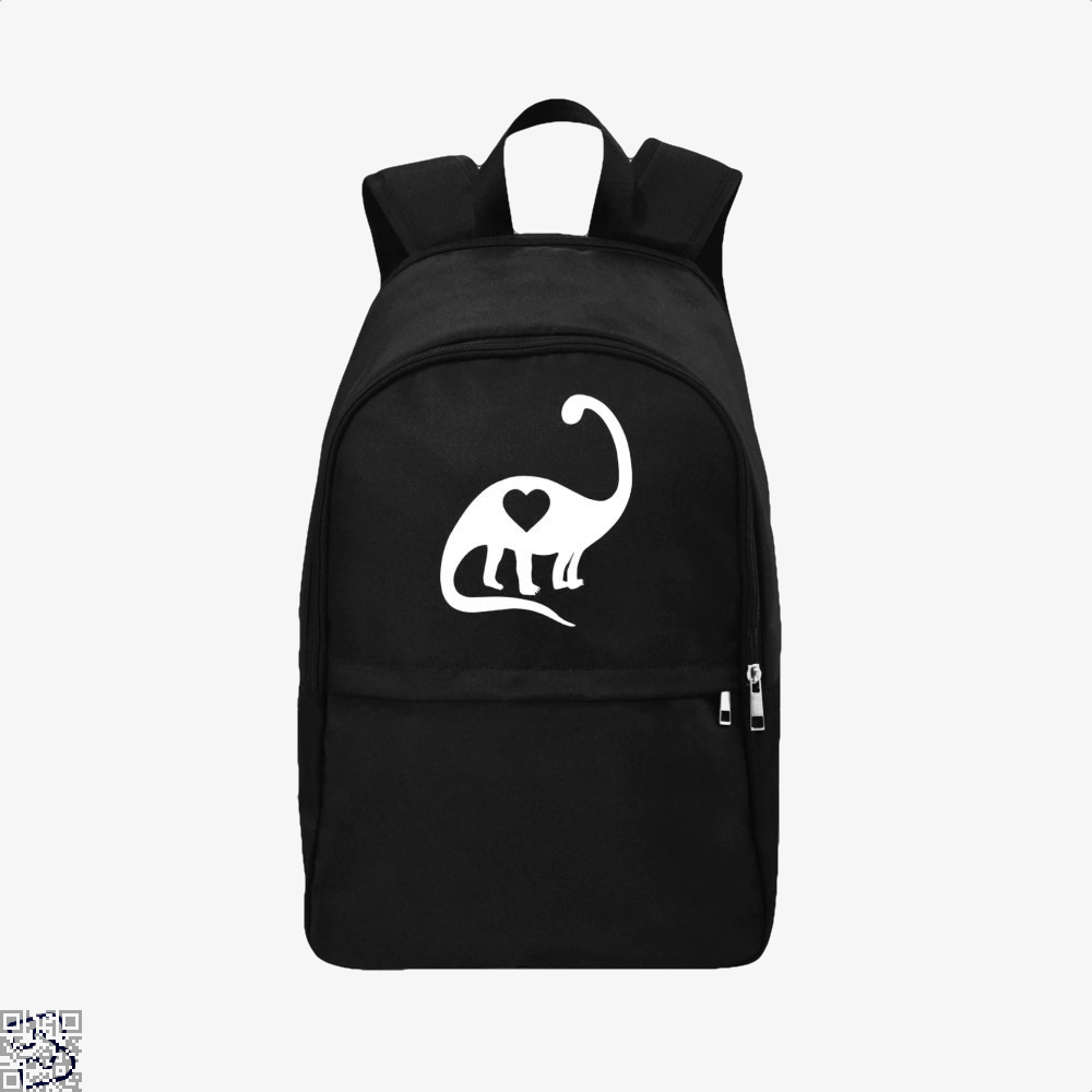 Dinosaur With Heart Valentines Day Backpack - Black / Adult - Productgenjpg