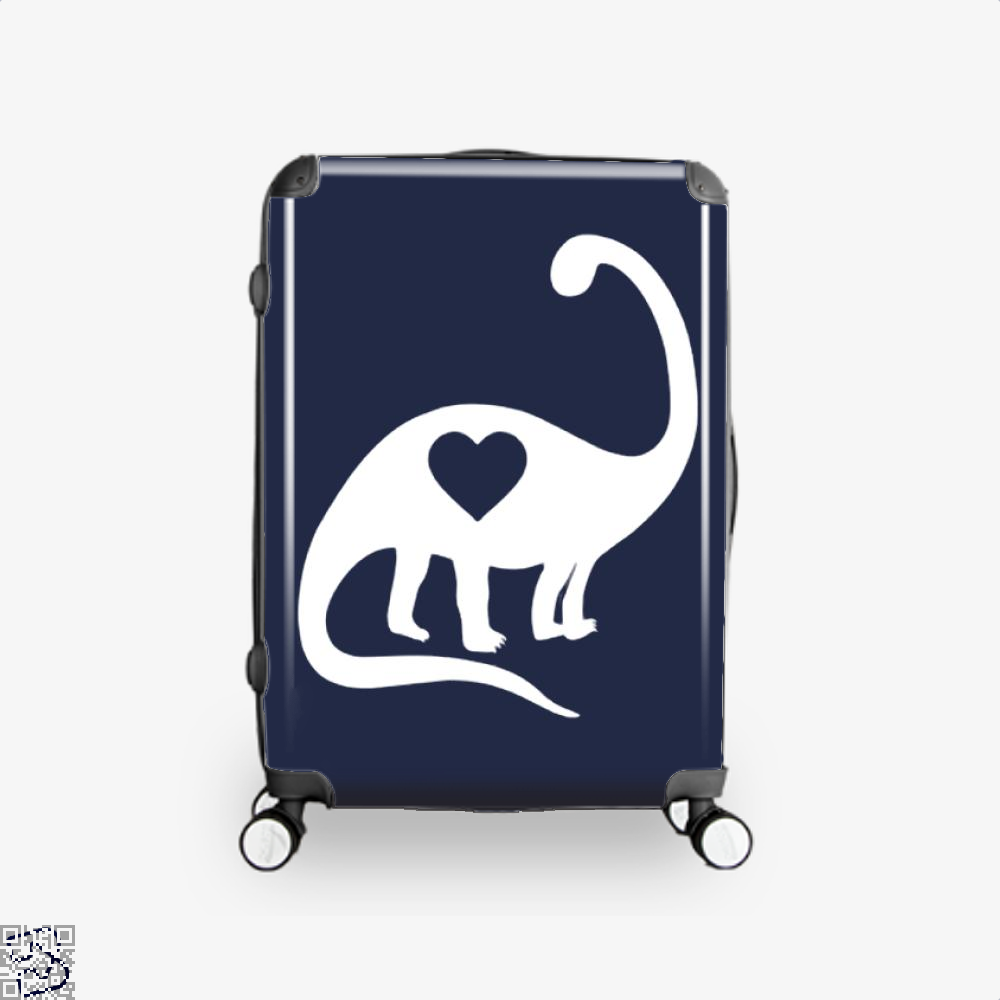 Dinosaur With Heart Valentines Day Suitcase - Blue / 16 - Productgenjpg