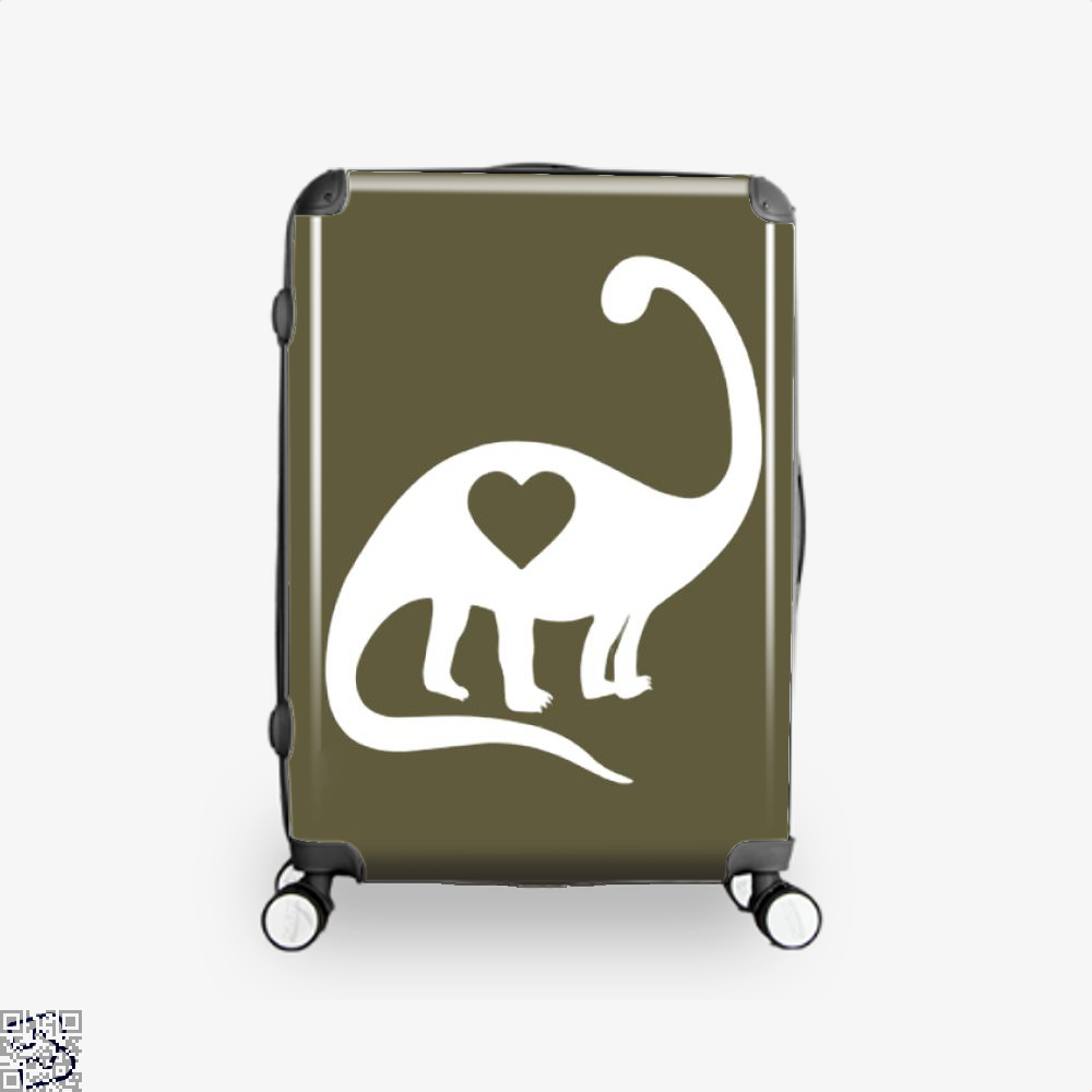 Dinosaur With Heart Valentines Day Suitcase - Brown / 16 - Productgenjpg