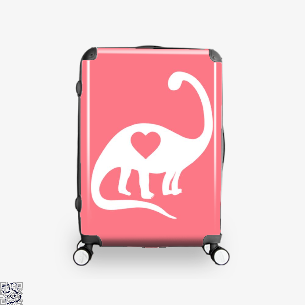 Dinosaur With Heart Valentines Day Suitcase - Pink / 16 - Productgenjpg