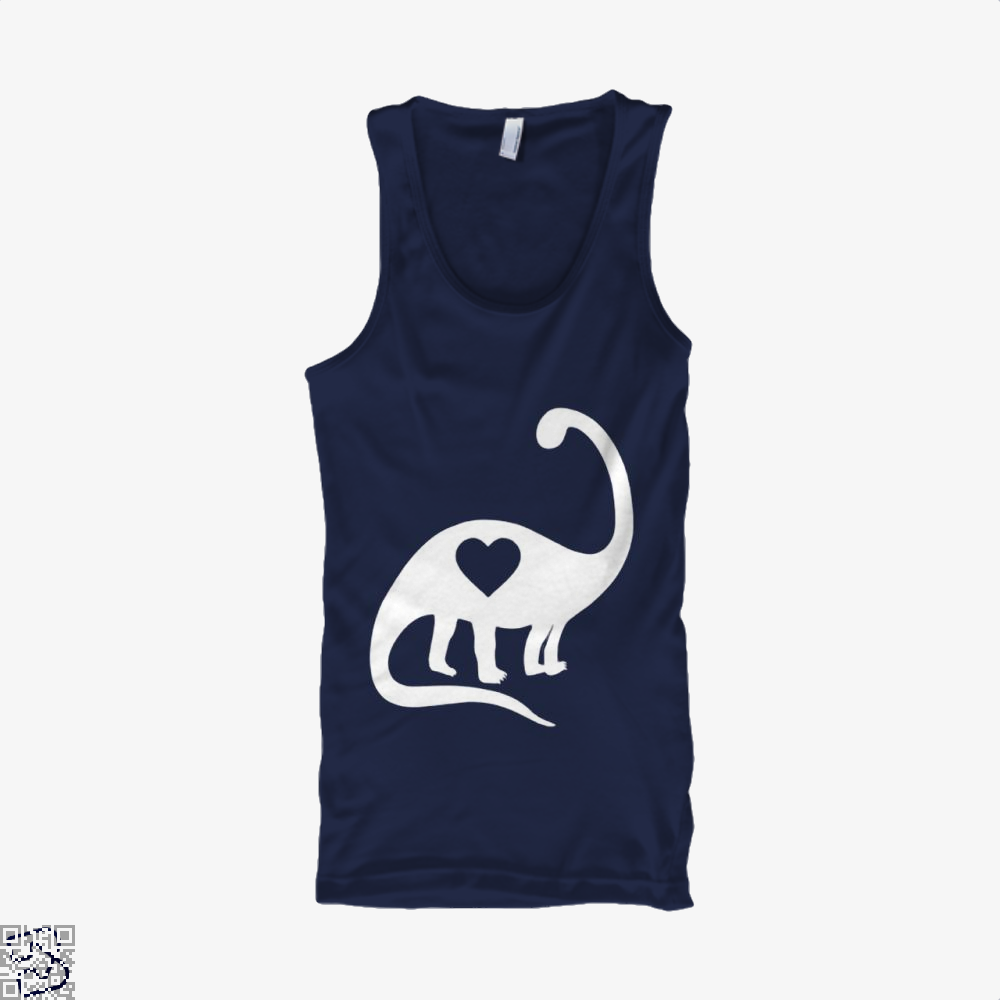 Dinosaur With Heart Valentines Day Tank Top - Men / Blue / X-Small - Productgenjpg