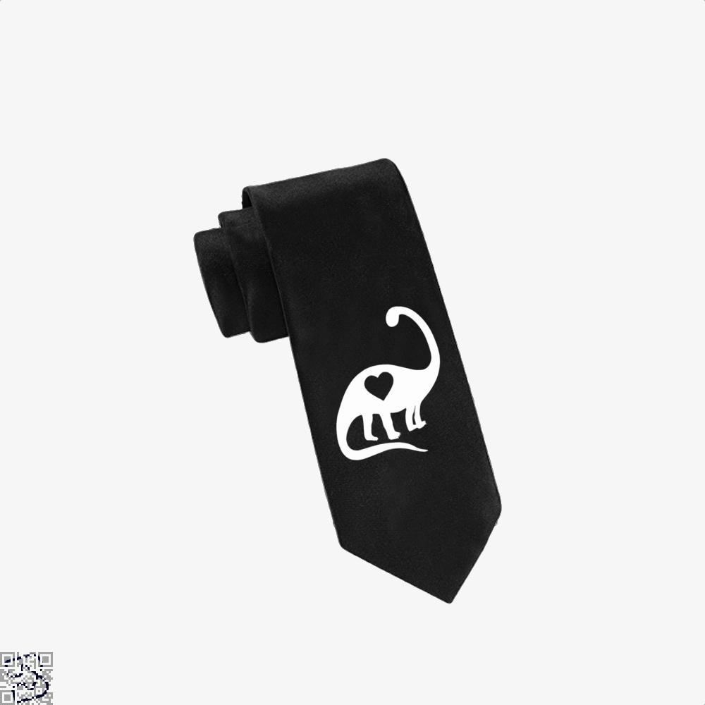 Dinosaur With Heart Valentines Day Tie - Black - Productgenjpg
