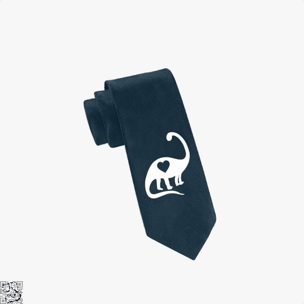 Dinosaur With Heart Valentines Day Tie - Navy - Productgenjpg